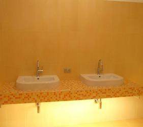 lavabo mensola mosaico