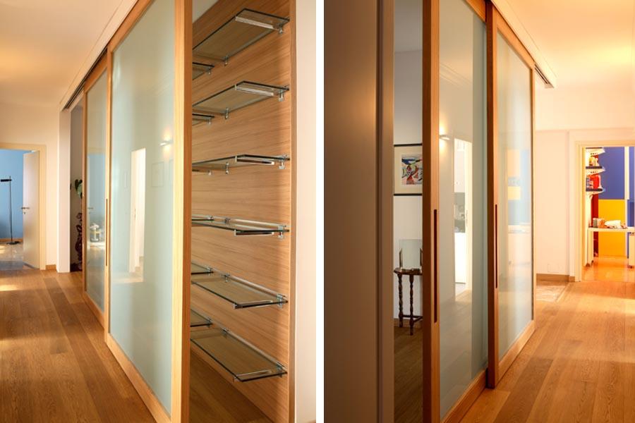 Libreria a porta libreria ikea componibile con porta - Parete cartongesso con porta scorrevole ...
