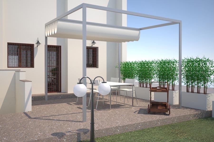 Rendering giardino pergola t t architettura for Rendering giardino