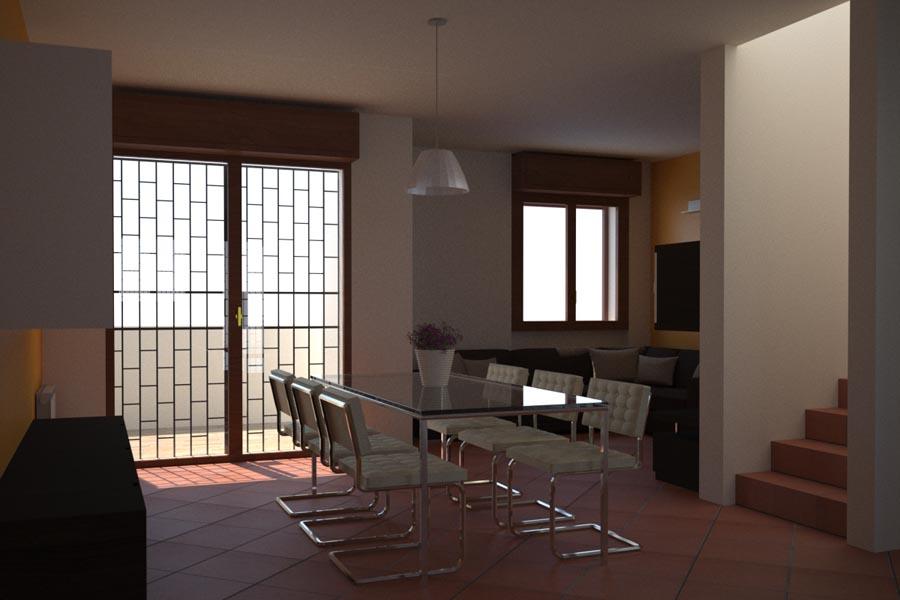 rendering soggiorno | t+t architettura